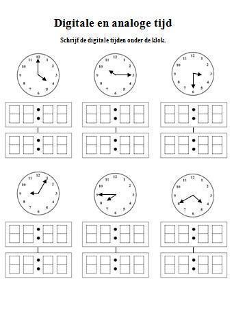 oefening duits de kloktijden